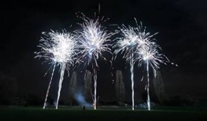 One of our professional firework displays from a large public event.