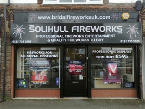 Fireworks for sale all year round from our professional shop.