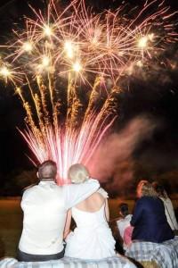 Wedding Fireworks at Hogarths Hotel